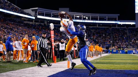 Tennessee Vols Football junior receiver Josh Palmer had 55 receiving yards and a touchdown in win over Kentucky Saturday night. (UT Athletics)