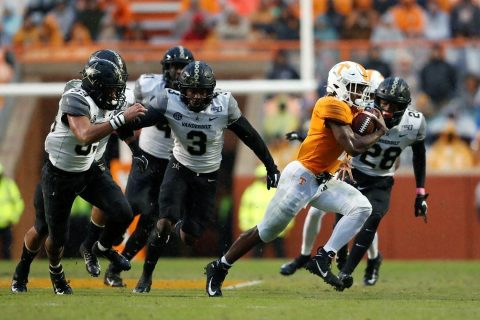 Tennessee Vols Football rushed for 297 yards in win over Vanderbilt, Saturday. (UT Athletics)