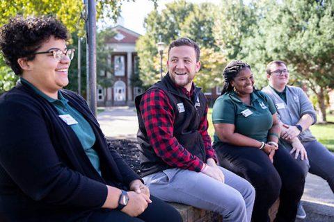 Aubrey Lewis, Hampton Freeman, DeNesha Bell and Edward Greer on the Austin Peay State University campus. (APSU)