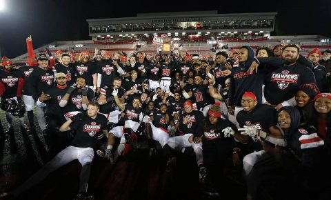 The Austin Peay State University Football team are the OVC Champions for 2019. (Robert Smith, APSU Sports Information)