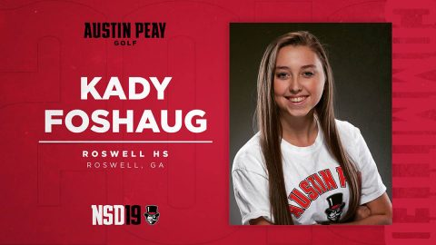 Austin Peay State University Women's Golf signs Kady Foshaug for 2010-21. (APSU Sports Information)