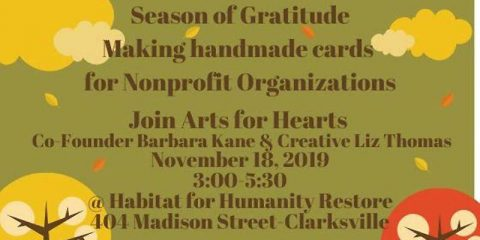 Arts for Hearts Clarksville to hold Season of Gratitude Card Making Class