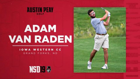 Austin Peay State University Men's Golf sign Van Raden during National Signing Day. (APSU Sports Information)