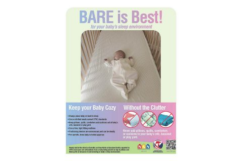 Bare is Best for your baby's sleep environment.