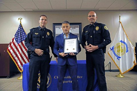 Sergeant Ramon Ferrer-Ramos retires from the Clarksville Police Department.