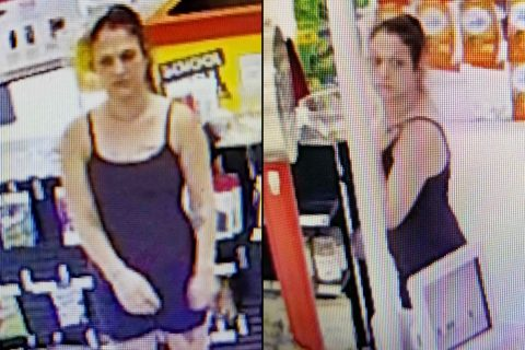 Clarksville Police are trying to identify the woman in these photos for use of a stolen credit card.