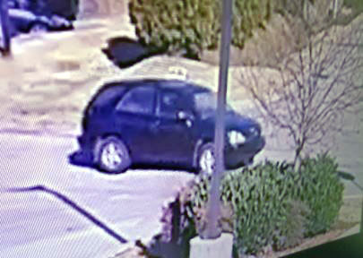 Robbery suspect's vehicle.