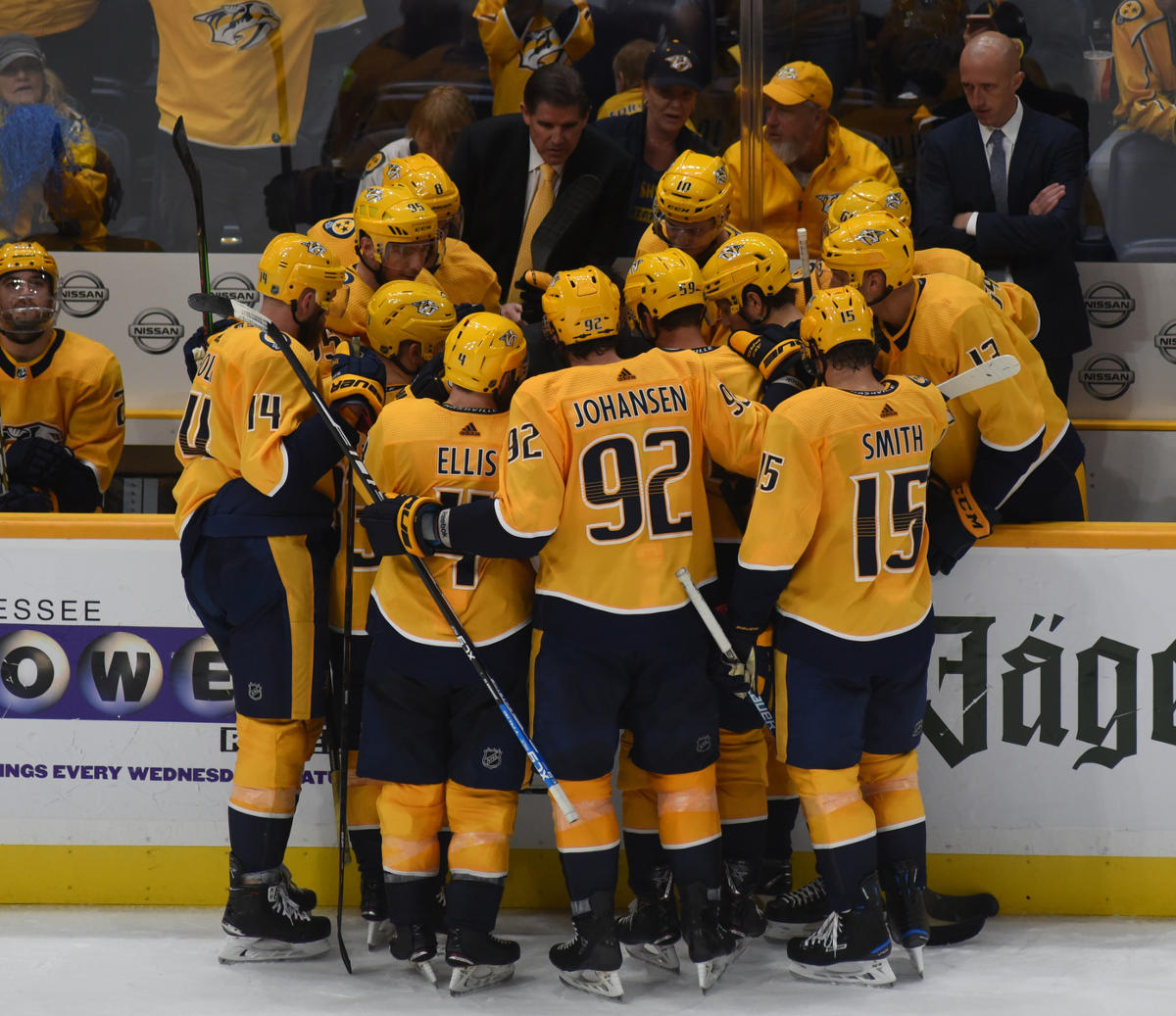 Predators' Arvidsson out 4-6 weeks after Bortuzzo cross-check