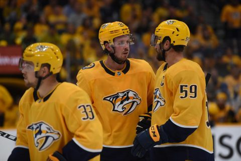 Nashville Predators fall to the Colorado Avalanche 3-2.  (Michael Strasinger)