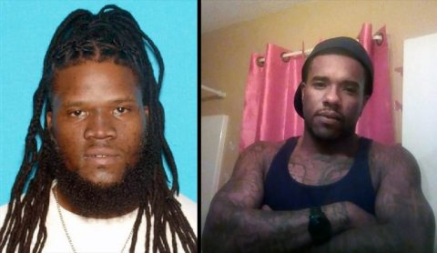 """Clarksville Police are interested in talking with George Northington (left) and Richard """"Kenny"""" Woodson (right) in regards to the Home Invasion Friday night where two men were found dead."""
