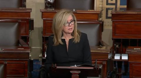 Marsha Blackburn speaks on the Senate floor about the need for her Rural Health Agenda.