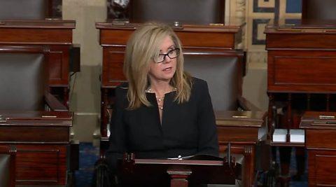 Marsha Blackburn speaks on the Senate floor about the need for her Rural Health Agenda.