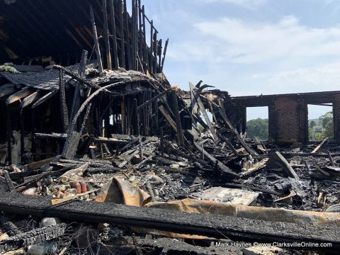 Montgomery County home recently destroyed by fire. Smoke alarms gave the family the time needed to get out of the house before it was engulfed in flames.