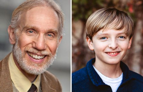 Jonathan Fluck and Caleb Crosby star as Ebenezer Scrooge and Tiny Tim in A CHRISTMAS CAROL: The Musical at the Roxy Regional Theatre, November 28th - December 21st.