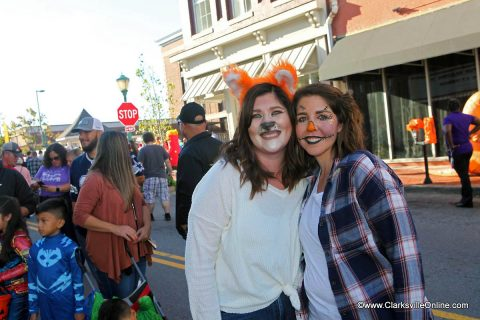 Stephanie Cunningham and Jackie McCarrick at Fright on Franklin