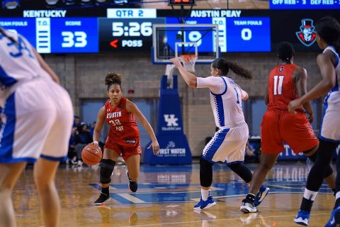 Austin Peay Women's Basketball unable to get on track at Kentucky, Sunday. (APSU Sports Information)