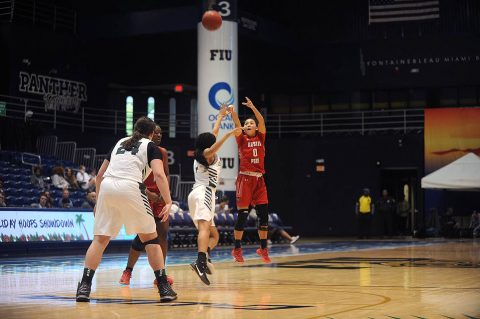 Austin Peay State University Women's Basketball junior Tahanee Bennell put up 15 points in win over Binghamton Wednesday at Florida International Holiday Hoops Showdown. (APSU Sports Information)
