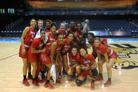Austin Peay State University Women's Basketball comes from behind to beat Florida International 58-56 and win FIU Holiday Hoops Showdown Championship. (APSU Sports Information)