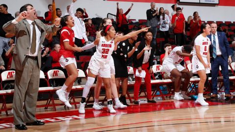 Austin Peay State University Women's Basketball comes from 10 points down late to force overtime then run to a 77-72 OT win over Illinois State. (APSU Sports Information)