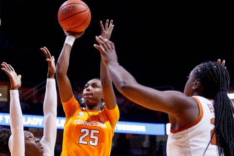Tennessee Women's Basketball freshman Jordan Horston scored 9 points and pulled down 5 rebounds in loss at Stanford Wednesday night. (UT Athletics)