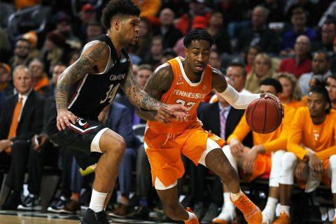 Tennessee Men's Basketball senior Jordan Bowden scored 13 points in loss to Cincinnati Wednesday night. (UT Athletics)