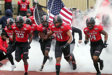 Austin Peay State University Football continues FCS Playoffs journey when the Govs travel to California to take on Sacramento State, Saturday. (Robert Smith, APSU Sports Information)