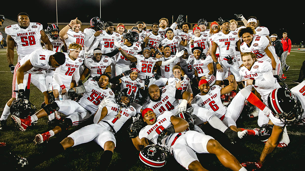 The Austin Peay State University football team made the trip West, knocking off #4 National Seed Sacramento State, 42-28, to advance to the FCS Quarterfinals. (APSU Sports Information)