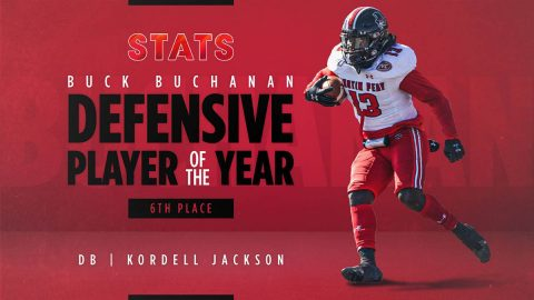 Austin Peay State University Football's Kordell Jackson come in sixth-place in voting for STATS Buck Buchanan Defensive Player of the Year. (APSU Sports Information)