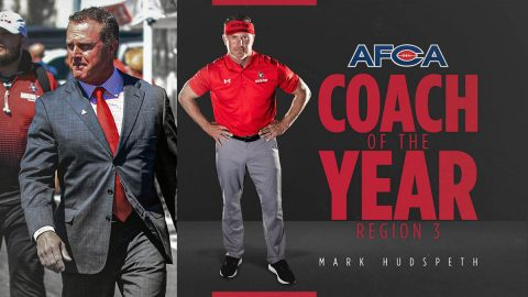 Mark Hudspeth is the first Austin Peay State University Football head coach to earn the AFCA Regional Coach of the Year award. (APSU Sports Information)