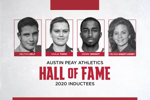 Austin Peay State University Athletics Hall of Fame to induct Melton Self, Vanja Tomic, Derek Wright and Melissa Gailey Luckey in 2020. (APSU Sports Information)