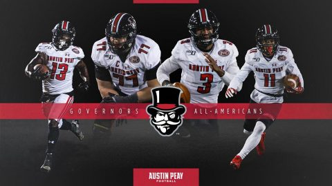 Austin Peay State University Football's JaVaughn Craig, Kordell Jackson, DeAngelo Wilson and Kyle Anderton named to HERO Sports All-America Teams. (APSU Sports Information)