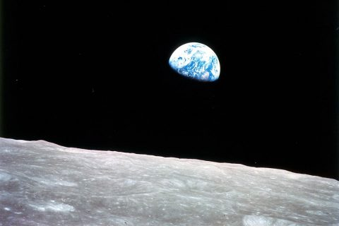 Apollo 8 astronauts view of the Earth from the Moon on Christmas Eve, 1968. (NASA)