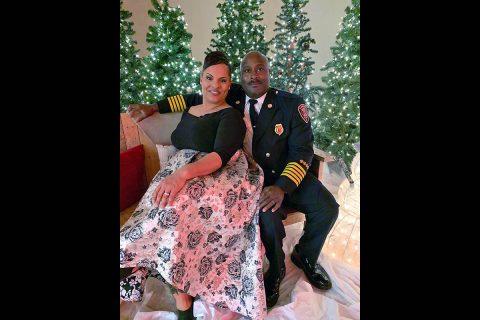 Clarksville Fire Chief Freddie D. Montgomery and his wife, Priscilla.