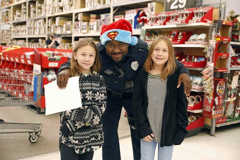 "Clarksville Police Union held their annual ""Kids Shopping with Cops"" this past Saturday. (Jim Knoll, CPD)"