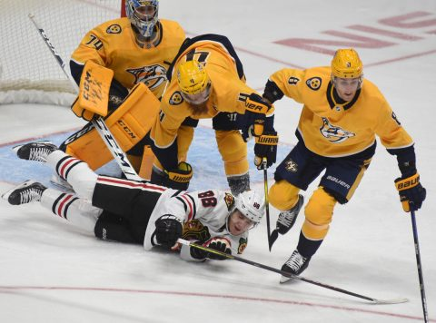 Nashville Predators fall to the Carolina Hurricanes in Nashville 4-1. (Michael Strasinger)