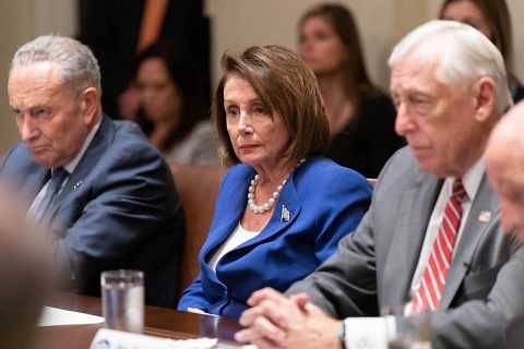 House Speaker Nancy Pelosi and Democrat Congressional leadership as they ponder how little they've done for the American people. (Official White House Photo by Shealah Craighead)