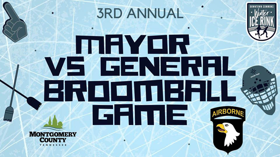 Mayor vs. General Third Annual Broomball Game