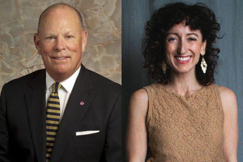 (L to R) Michael A. Corbett and Jennifer Stalvey.