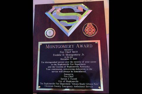 Montgomery Award Plaque