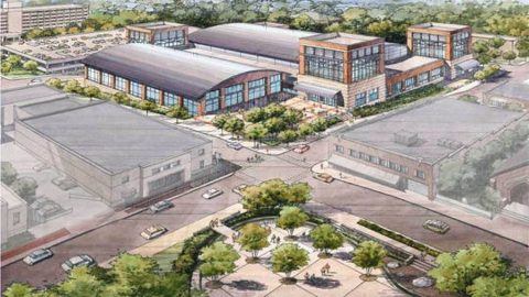 Artist rendition of the Montgomery County multipurpose event center.