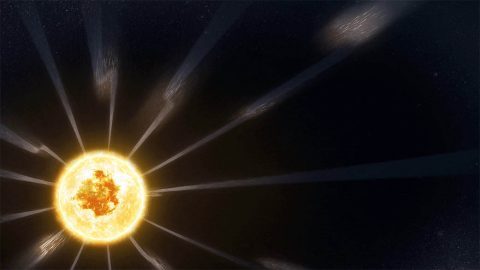 Parker Solar Probe observed switchbacks — traveling disturbances in the solar wind that caused the magnetic field to bend back on itself — an as-yet unexplained phenomenon that might help scientists uncover more information about how the solar wind is accelerated from the Sun. (NASA's Goddard Space Flight Center/Conceptual Image Lab/Adriana Manrique Gutierrez)