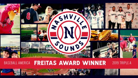 Nashville Sounds to Accept the Award Monday at the Baseball Winter Meetings in San Diego. (Nashville Sounds)
