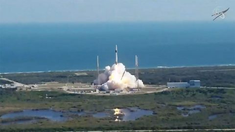 SpaceX launches its 19th cargo resupply mission to the International Space Station at 11:29pm CST December 5th, 2019, from Space Launch Complex 40 at Cape Canaveral Air Force Station in Florida. Upgraded science hardware for the Cold Atom Lab - built and operated by JPL- is among the cargo. (NASA TV)