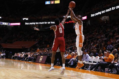 Tennessee Men's Basketball was unable to get the offensive going against Wisconsin, Saturday afternoon. (UT Athletics)