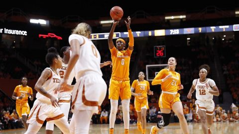 Tennessee Women's Basketball junior Rennia Davis led the Lady Vols with 15 points against Texas, Sunday afternoon. (UT Athletics)
