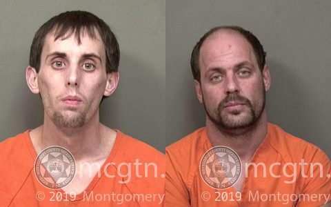 (L to R) Timothy Baker and Richard Baker were arrested by Clarksville Police for Vehicle Burglary.