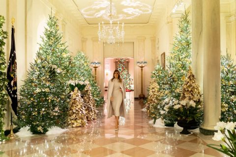 First Lady Melania Trump designed the White House Decorations.