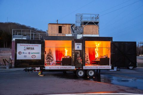 The Tennessee State Fire Marshal's Office joined Nashville Fire and the National Fire Sprinkler Association to raise awareness of the importance of home fire safety and home fire sprinklers during winter on Dec. 11, 2019.