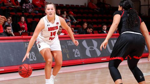 Austin Peay Women's Basketball fourth quarter rally comes up short against Southeast Missouri Thursday at the Dunn Center. (APSU Sports Information)