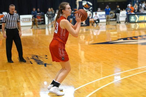 Austin Peay State University Women's Basketball sophomore Maggie Knowles scored 17 points in loss against UT Martin, Saturday. (APSU Sports Information)